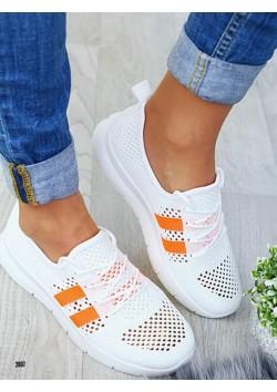 Кроссовки женские SJ 544 белые оранж
