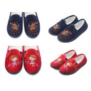 Туфли детские Трикотаж + Вышивка