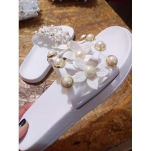 Шлёпанцы женские DS 45-1 белые