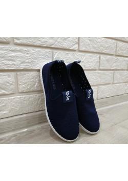 Мокасины женские S-526 синие