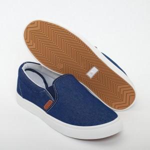 Вансы женские VS-704 синий джинс